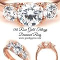 18k Rose Gold Trilogy Diamond Ring