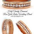 Half Eternity Diamond  Rose Gold Ladies Wedding Band