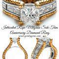 Intricated Rope Milgrain Side Trim Anniversary Diamond Ring