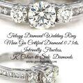 Trilogy Diamond Wedding Ring 073cts Internally Flawless K colour GIA Certified Diamonds