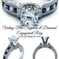 Vintage Blue Sapphires & Diamond