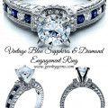 Vintage Blue Sapphires & Diamond