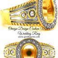 omega design mens wedding ring