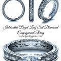 Intricated Bezel Leaf Set Diamond Engagement Ring