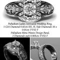 Palladium-COuple-Band-Ring-Ladies-Victorian-Design-and-Mens-Weaving-Design