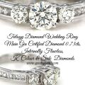 Trilogy Diamond Wedding Ring 073cts Internally Flawless K colour GIA Certified Diamonds